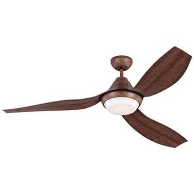 "56"" Monte Carlo Avvo Koa LED Damp DC Ceiling Fan - Lamps Plus"