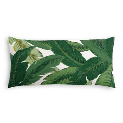 SIMPLE LUMBAR PILLOW - Be Leaf It - Palm -  Down insert - 12x24 - Loom Decor