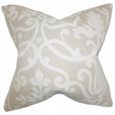 """Bristol Floral Pillow Linen-18""""x18""""-Polyester pillow insert - Linen & Seam"""