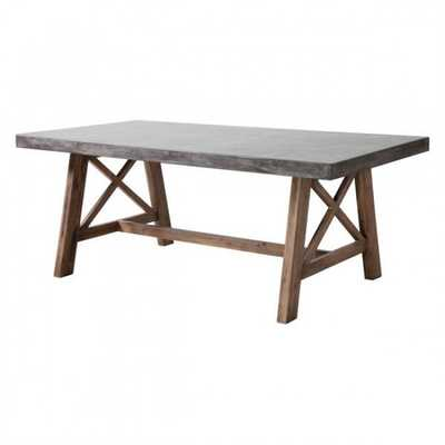 Ford Dining Table Cement & Natural - Zuri Studios