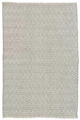 Crystal Grey/Ivory Indoor/Outdoor Rug - 5x8 - Dash and Albert