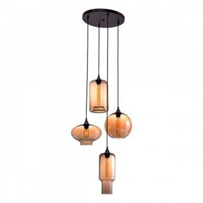 Lambie Ceiling Lamp Rust & Amber - Zuri Studios