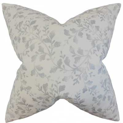 Zola Foliage Pillow - 18x18, With Insert - Linen & Seam