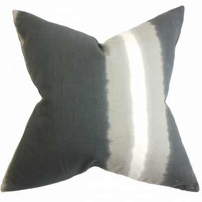 "Djuna Stripe Pillow Gray- 20"" x 20"", Down Insert - Linen & Seam"