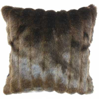 Eilonwy Mink Pillow Brown 12x18 high-fiber polyester pillow insert - Linen & Seam