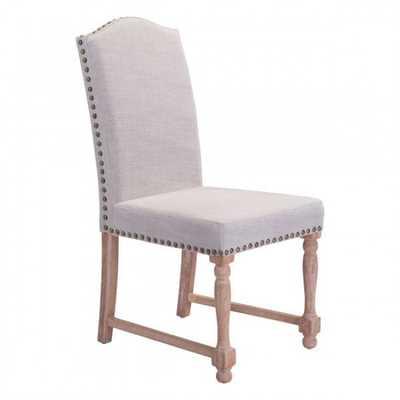 Richmond Dining Chair Beige, Set of 2 - Zuri Studios