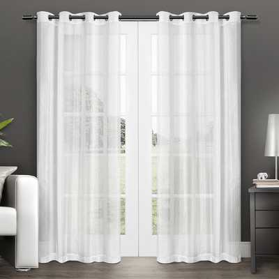 ATI Home Penny Grommet Top Sheer Curtain Panel Pair - Overstock
