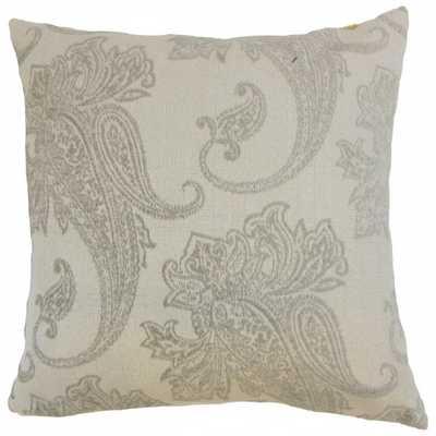"""Galia Paisley Pillow Linen- 18"""" x 18 """"- Down insert - Linen & Seam"""