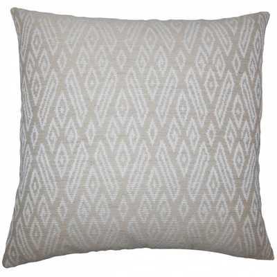 """Gaphna Ikat Pillow Jute, Tan - 20"""" x 20"""" - High-fiber polyester pillow insert - Linen & Seam"""