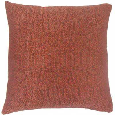 """Grisel Woven Pillow Fiesta -18''x 18""""-Down insert - Linen & Seam"""