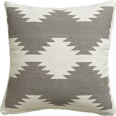 "18"" tecca pillow with down-alternative insert - CB2"