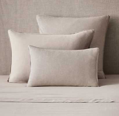 Heathered Cotton Cashmere Sham - King - RH