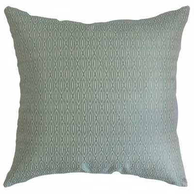 "Whitney Geometric Pillow Blue - 18""x18"" - Polyester Insert - Linen & Seam"