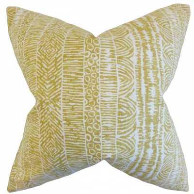 "Jem Geometric Pillow Amber - 18"" x 18""- Insert included - Linen & Seam"