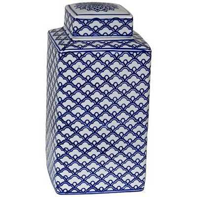 "Lee Blue and White 10 1/4"" High Ceramic Ginger Jar Vase - Lamps Plus"