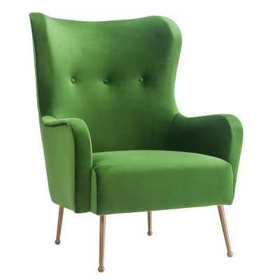 Jasmine Green Velvet Chair - Maren Home