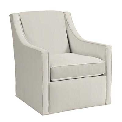 Carlyle Swivel Chair - Microfiber Chamois - Ballard Designs