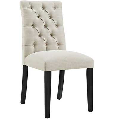 Duchess Fabric Dining Chair in Beige - Modway Furniture