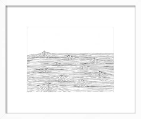 """Rest 14 x 11"""" print with white wood frame and 3"""" shelf - Artfully Walls"""