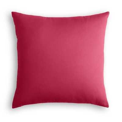 "Hot pink canvas throw pillow - 18"" x 18"" - Down Insert - Loom Decor"