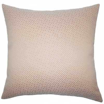 "Pertessa Geometric Pillow Blush-20"" x 20""-Polyester Insert - Linen & Seam"