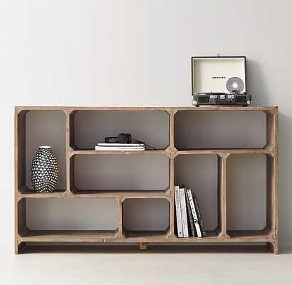 Reclaimed Pine Low Bookcase - RH Teen