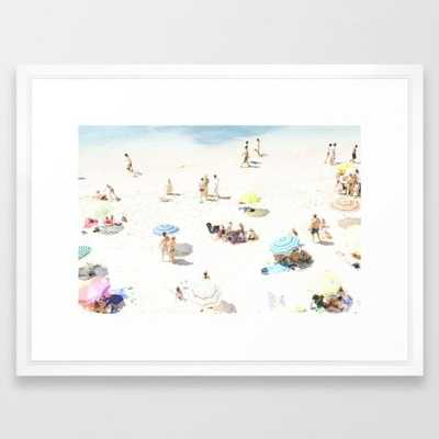 "Beach Art Print - 26"" x 38"" - Vector White frame - Society6"