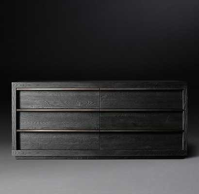 BEZIER 6-DRAWER LOW WIDE DRESSER - RH Modern