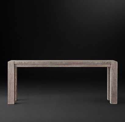 RECLAIMED RUSSIAN OAK PARSONS CONSOLE TABLE - RH