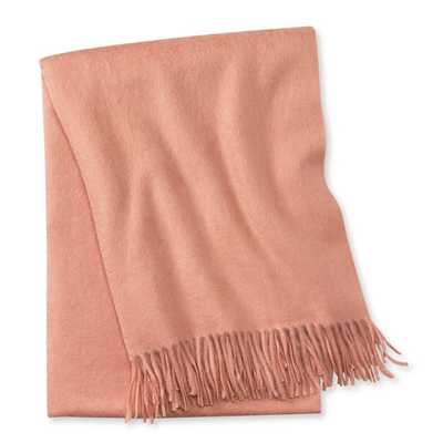 Solid Cashmere Throw, Blush - Williams Sonoma Home