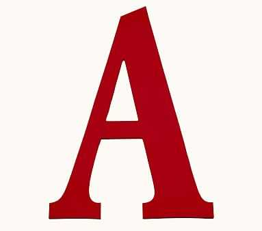 Mini Harper Painted Letter, Red, A - Pottery Barn Kids