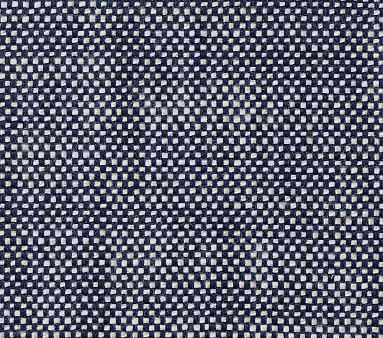Fabric By The Yard: Premium Performance Basketweave Navy - Pottery Barn Kids