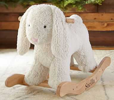 Sherpa Bunny Plush Rocker - Pottery Barn Kids