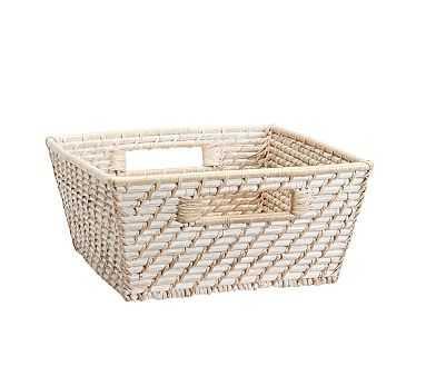 Medium Quinn White Washed Basket - Pottery Barn Kids