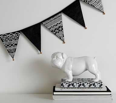 Bells & Embroidery Pennant Garland - Pottery Barn Kids