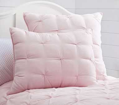 Audrey Standard Quilted Sham, Light Pink - Pottery Barn Kids