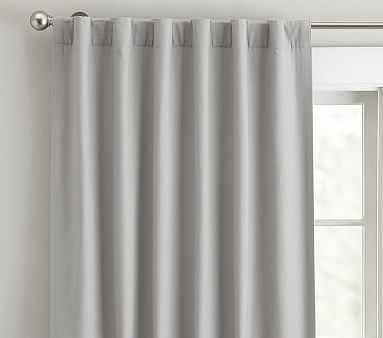 "Quincy Cotton Canvas Blackout Curtain/  96"" / Gray - Pottery Barn Kids"