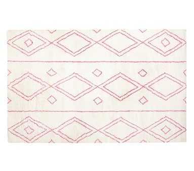 Delaney Rug, Pink, 5'x8' - Pottery Barn Kids