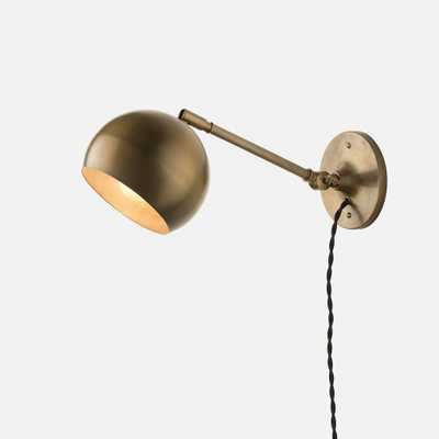 Isaac Plug-In Sconce Brass - Long Arm - - Schoolhouse Electric