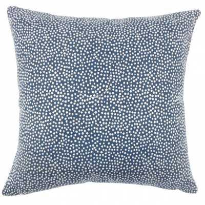 """Latiece Ikat Pillow, 20""""x20""""- Navy, Down Insert - Linen & Seam"""