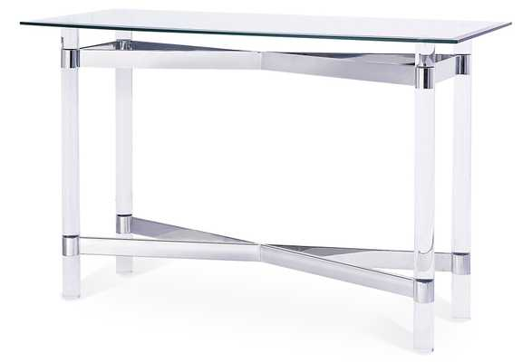 Townsend Console Table, modern, Silver - One Kings Lane