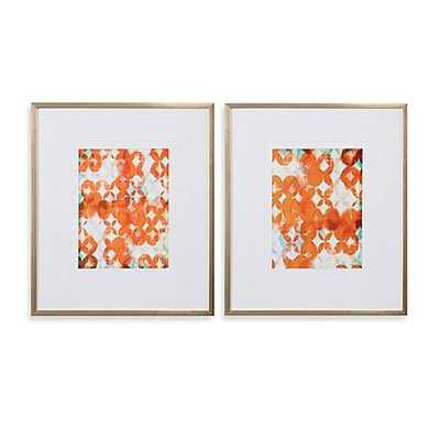 Uttermost Overlapping Teal and Orange Modern Wall Art - Bed Bath & Beyond