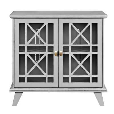 32-inch Fretwork Grey Entryway Console - Overstock