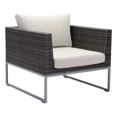 Malibu Arm Chair Brown & Beige - Zuri Studios
