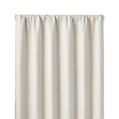 """Largo Natural Linen 50""""x96"""" Curtain Panel - Crate and Barrel"""