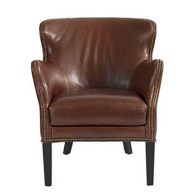 Dixon Leather Chair - Cognac - Ballard Designs