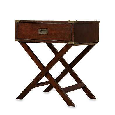 Accent Table with Cross Leg Nightstand - Bed Bath & Beyond