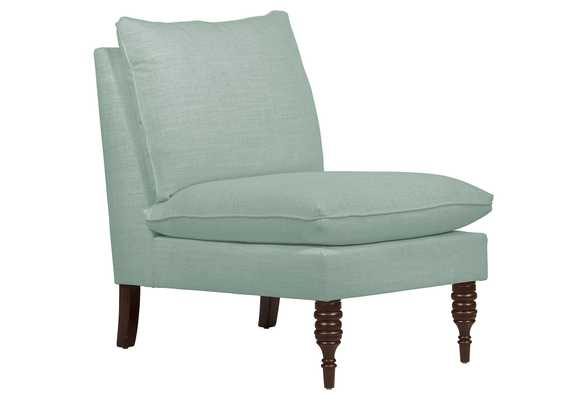 Daphne Slipper Chair, classic, Mint Linen, Made in the USA - One Kings Lane