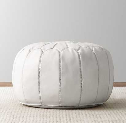 MOROCCAN LEATHER ROUND POUF - RH