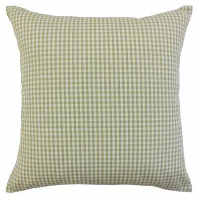 """Keats Plaid Pillow - 12"""" x 18"""" - Down Insert - Linen & Seam"""